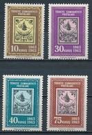 °°° TURKEY - Y&T N°1634/37 - 1963 MNH °°° - 1921-... Repubblica