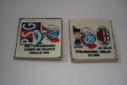 20190403-2687 2 PIN'S DU RACING CLUB DE STRASBOURG FOOTBALL - Voetbal