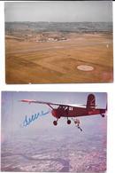 BERGERAC (Dordogne) 2 Photos Originales Années 60 - TERRAIN D'AVIATION & ECOLE DE PARACHUTISME -COMBIER CIM Imp à Macon - Aviation
