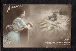 Grande Guerre 1914/1918 / A L'absent / Femme,songe,soldat Poilus ( Voir Texte Verso ) - Guerre 1914-18