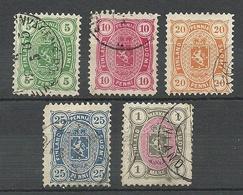 FINLAND FINNLAND 1885 Michel 20 - 24 O - 1856-1917 Russische Verwaltung