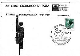 ITALIA - 1980 PARMA  63° Giro Ciclistico D'Italia 3^ Tappa Torino-Parma Su Busta Speciale - Ciclismo