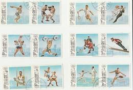 Fujeira - Lot 10 Paires De Timbres Jeux Olympiques De Munich 1972 - Mi 1102A à 1121A - Fujeira