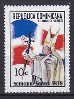 Dominikanische Republik, Flugpostmarke 1979.  9. April Heilige Woche, Mi: 1222 Papst Johannes Paul II - Christianisme