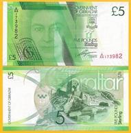 Gibraltar 5 Pounds P-35 2011 UNC Banknote - Gibraltar