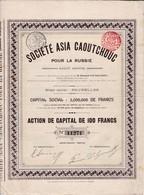(Tapp 7)Société Asia Caoutchouc Pour La Russie 1910N= 10 - Aandelen