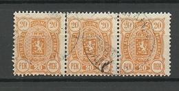 FINLAND FINNLAND 1889 Michel 30 As 3-stripe O - 1856-1917 Administration Russe