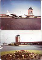 BEAUVAIS (Oise)  L'AEROPORT - AVION Cie SKYWAYS Vue Aérienne - 2 Photos Originales 1966 -COMBIER CIM Imp à Macon - Aviation
