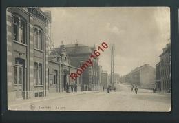 TAMINES. Thienen.  La Gare- Station. Animée. Voyagée En 1914. Scan Recto/verso - Sambreville
