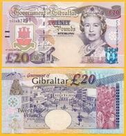 Gibraltar 20 Pounds P-31 2004 UNC Banknote - Gibraltar