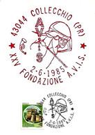 ITALIA - 1985 COLLECCHIO (PR) XXV Fondazione Donatori Sangue AVIS Su Cartolina Speciale - Salute