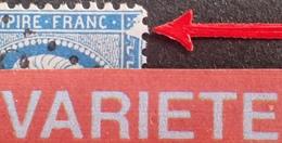 R1917/19 - NAPOLEON III N°22 - LGC - SUPERBE VARIETE ➤➤➤ Grande Encoche N/E - 1862 Napoleon III