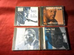 COLLECTION DE 4 CD ALBUM DE JAZZ ° SONNY ROLLINS + HOWLIN WOLF  IM THE WOLF + BACK DOOR MAN + BEN WEBSTER ² - Music & Instruments