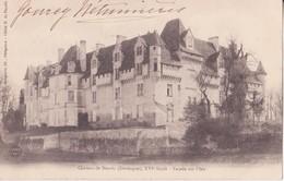 CPA - Château De NEUVIC (Dordogne) Façade Sur L'isle - France