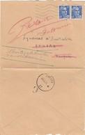 LETTRE 1954. 30Fr. GANDON. CHATILLON POUR ANKARA TURQUIE ET RETOUR /  4 - Postmark Collection (Covers)