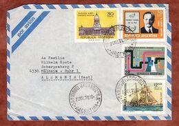 Vorderseite, Luftpost, MiF Tag Der Marine U.a., San Miguel Arcangel Nach Muelheim 1976 (71720) - Storia Postale