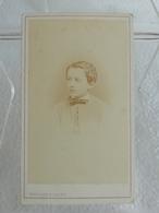 Ancienne Photo Format CDV RAOUL DU VAURE Jeune Homme En 1872 Photographe G. MARGAIN & JAGER Grenoble - Personnes Identifiées