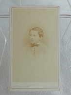 Ancienne Photo Format CDV RAOUL DU VAURE Jeune Homme En 1872 Photographe G. MARGAIN & JAGER Grenoble - Identified Persons