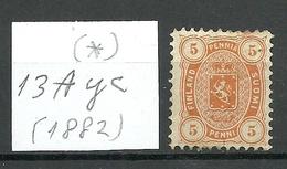 FINLAND FINNLAND 1882 Michel 13 A Y  * - Neufs