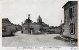 79. DEUX-SEVRES - MARIGNY. Grand'Place Et Eglise. - Other Municipalities