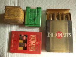 Lot 4 Marques Cigarettes Et Cigares états Collection Périmée. - Non Classés