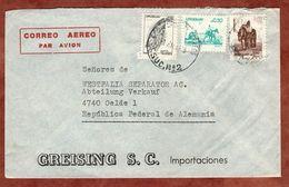Luftpost, Greising, MiF Lanzenspitze U.a., Nach Oelde 1978 (71722) - Uruguay