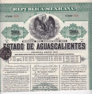 (Tapp 7)Mexique Estado De Aguascalientes1910N= 12 - Aandelen