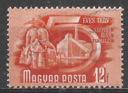 Hungary 1951. Scott #947 (U) Power Production * - Oblitérés