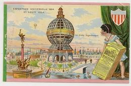 PUBLICITE MAIZENA  Exposition Universelle 1904 Saint Louis U.S.A. Le Globe Gigantesque. Passe Partout Lithographie. - Werbepostkarten
