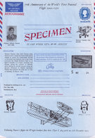 Wilbur Wright Brothers Richard Pearse Aviation New Zealand Specimen Aerogramme - New Zealand