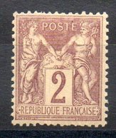 FRANCE - YT N° 85 - Neuf * - MH - Cote: 15,00 € - 1876-1898 Sage (Type II)