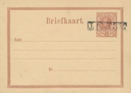 Curacao - 1879 - 7,5 Cent Op 15 Cent Willem III, Briefkaart G4a Met Kopstaande Opdruk / Inverted Overprint - Curaçao, Nederlandse Antillen, Aruba