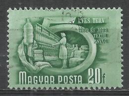 Hungary 1951. Scott #948 (U) Textile Industry * - Oblitérés