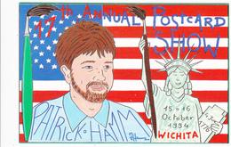 CPM U.S.A. KANSAS WICHITA Salon Collections 1994 Statue Liberté Liberty Llustrateur P. HAMM (2 Scans) - Postcards