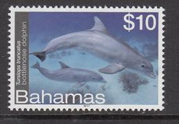 2017 Bahamas $10 Bottle Nose Dolphin  Complete Set Of 1 MNH - Bahamas (1973-...)
