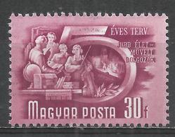 Hungary 1951. Scott #949 (U) Cultured Workers * - Oblitérés
