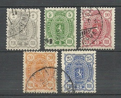 FINLAND FINNLAND 1889/90 Michel 27 - 31 O - 1856-1917 Russische Verwaltung