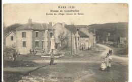 Ardennes GIVONNE EN RECONSTRUCTION Entrée Village Venant De Sedan Souvenir Inauguration Monument Aux Morts 2 Scans .giv - France