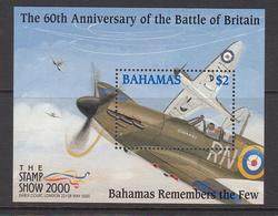 2000 Bahamas  Spitfires Battle Of Britain Military Aviation  Souvenir Sheet  Complete Set Of 1 MNH - Bahamas (1973-...)