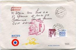 ENVELOPPE CONCORDE VOL PRESIDENTIEL RECIFE VOL DU 18-10-1985 - Concorde