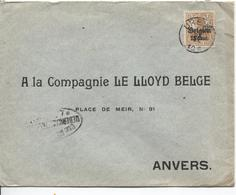 SJ88/ TP Oc 15 S/L.c.Oreye Censure Lüttich V.Anvers - Guerra '14-'18