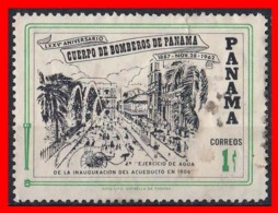PANAMA  ( AMERICA DEL NORTE )  SELLO AÑO   SELLO AÑO 1963 75º ANIVERSARIO DEL CUERPO NACIONAL DE BOMBEROS. - Panamá