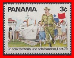 PANAMA  ( AMERICA DEL NORTE )  SELLO AÑO   SELLO AÑO  1979 FINA DE LA HEGEMONÍA DE ESTADOS UNIDOS - Panamá