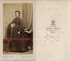 CDV époque Second Empire-mode Femme-photo Charles Jacotin à Paris - Old (before 1900)