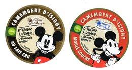 Lot De 2 Etiquettes Camembert D'Isigny Ste Mère 90 Ans De Mickey Walt Disney Bande Dessinée - Käse