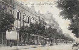 Chalon-sur-Saone - Boulevard De La République - Galeries Modernes - Carte B.F. - Chalon Sur Saone