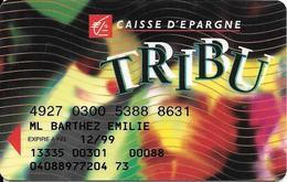 CARTE-MAGNETIQUE-BANCAIRE-BANQUE D EPARGNE-TRIBU-12/99-SOLAIC 06/96-TBE - Cartes Bancaires Jetables