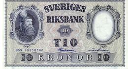 Sweden P,43 10 Kronor 1959 Au+++ - Svezia