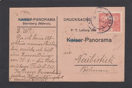 POSTKARTE VON STERNBERG NACH NEUBISTRITZ. - Covers & Documents