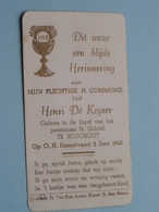 H. Communie Van Henri De KEYSER > Pensionaat St. Gabriël Te BOUCHOUT Op 3 Juni 1943 ( Details Zie Foto's ) ! - Communion
